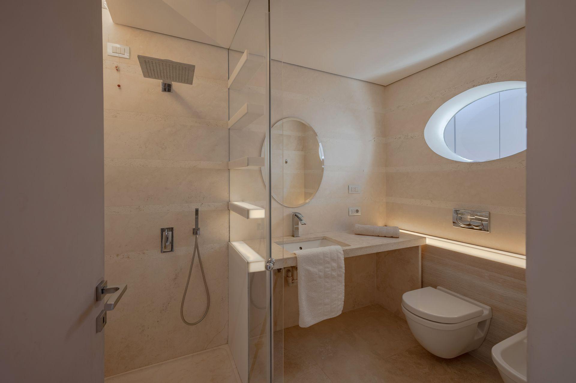 Chocolate room bathroom